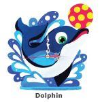 Animal Clock Stand - Dolphin