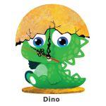Animal Clock Stand - Dino