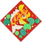 Chinese New Year Foam Clay Canvas Kit - Koi Fish