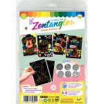 Tangle Scratch Art - Jungle Animal Kit