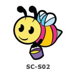 Suncatcher Small Keychain - Honey Bee