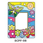 Suncatcher Photo Frame Kit - Butterfly and Flowers