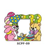 Suncatcher Photo Frame - Rabbit, Duck and Bear Birthday Party