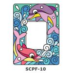 Suncatcher Photo Frame - Swimming Dolphins
