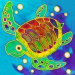 Batik Painting Malaysia - Sea Turtle Batik