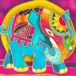 Batik Painting Malaysia - Elephant Batik