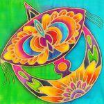 Batik Painting Malaysia - Traditional Wau Batik
