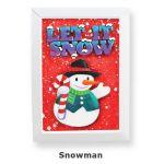 Christmas Frame Deco - Snowman