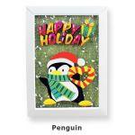 Christmas Frame Deco - Penguin