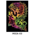 Scratch Art Kit - Malaysian Theme - Bunga Raya / Hibiscus
