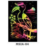 Scratch Art Kit - Malaysian Theme - Burung Enggang / Hornbill