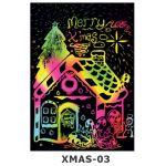 Scratch Art Kit - Christmas - Christmas Cottage