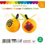 Felt & Polyfoam 2-Piece Mandarin Orange - Pack of 10