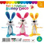 Felt & Polyfoam Bunny Deco Kit 5 Pack