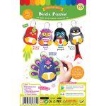 Felt Birdie Plushie Keychain Kit