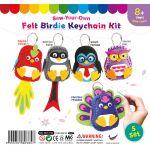 Felt Birdie Keychain - Pack of 5
