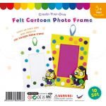 Felt Cartoon Photo Frame - Pack of 10 - Owl