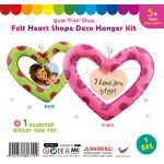 Felt Heart Shape Deco Hanger Kit