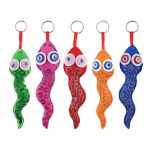 Felt Colourful Snake Plushie 5 Pack