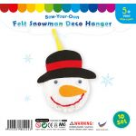 Felt Snowman Deco Hanger - Pack of 10
