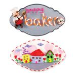 My-Clay Frilly Wall Deco - Happy Baker and Pretty Townhouses