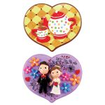 My-Clay Heart Wall Deco - Tea Party and Wedding Couple