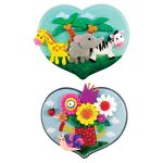 My-Clay Heart Wall Deco - Safari Animals and Snail With Flowers