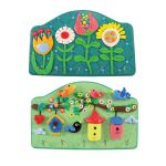 My-Clay Key Holder - Garden of Flowers and Bird Houses