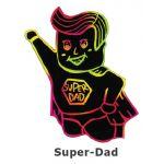 Scratch Art Father's Day - Super Dad