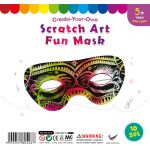Scratch Art Fun Mask - Pack of 10