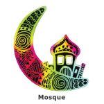 Scratch Art Hari Raya - Mosque on Moon