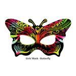Scratch Art Girls' Mask - Butterfly