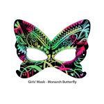 Scratch Art Girls' Mask - Monarch Butterfly