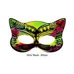Scratch Art Girls' Mask - Kitten