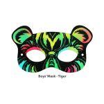 Scratch Art Boys' Mask - Tiger