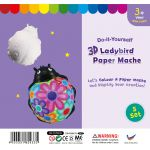 3D Animal Paper Mache - Pack of 5 - Ladybird
