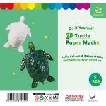 3D Animal Paper Mache - Pack of 5 - Sea Turtle