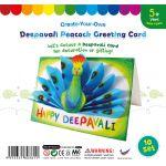 Deepavali Peacock Greeting Card - Pack of 10