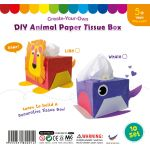 Animal Paper Tissue Box - Pack of 10