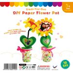 Paper Sunflower Pot - Pack of 10