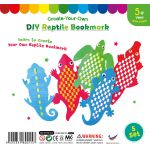 Paper Reptile Weaving Bookmark - Pack of 5