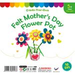 Felt Mother's Day Flower Pot Pack of 10