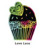 Scratch Art Cupcake - Love Lace
