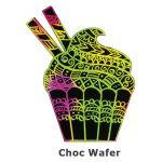 Scratch Art Cupcake - Chocolate Wafer
