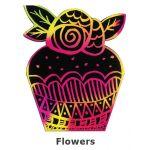 Scratch Art Cupcake - Flowers