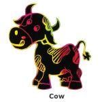 Scratch Art Farm Animal - Cow