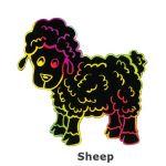 Scratch Art Farm Animal - Sheep