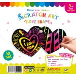 Scratch Art Love Shape - Pack of 10