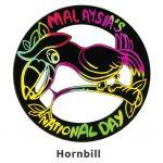 Scratch Art Merdeka - Burung Enggang / Hornbill