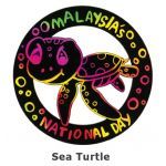 Scratch Art Merdeka - Penyu / Sea Turtle